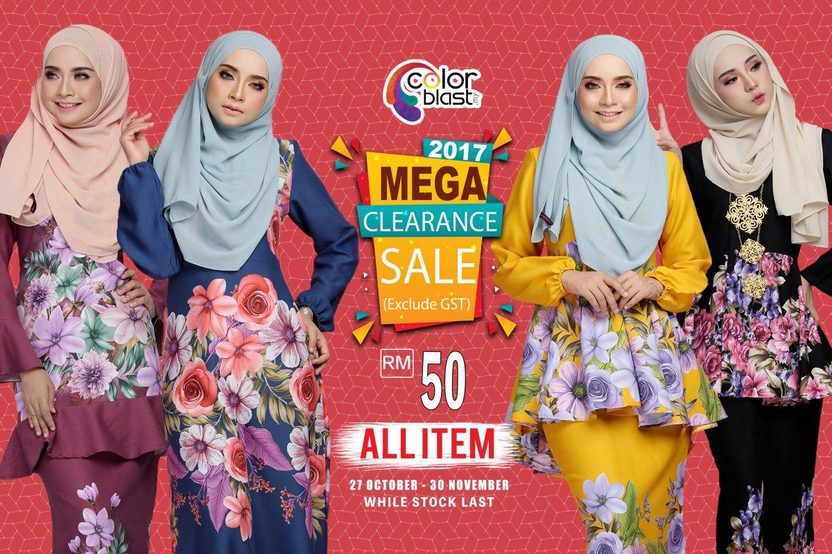 [MEGA CLEARANCE SALE]: Semua item berharga RM50 sahaja!